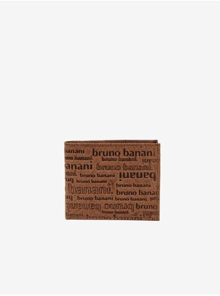 Světle hnědá pánská kožená vzorovaná peněženka Bruno Banani