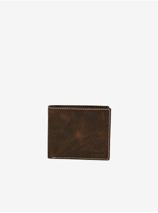 Tmavě hnědá pánská kožená peněženka Bruno Banani