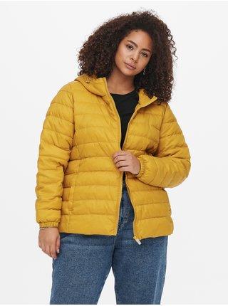 Žlutá prošívaná bunda ONLY CARMAKOMA Tahoe