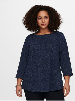 Tmavomodrý sveter ONLY CARMAKOMA Martha