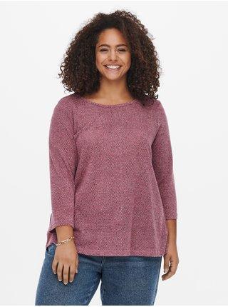 Tmavoružový sveter ONLY CARMAKOMA Martha
