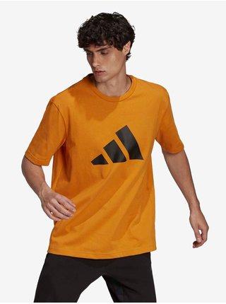 Oranžové pánske tričko adidas Performance M FI 3B Tee