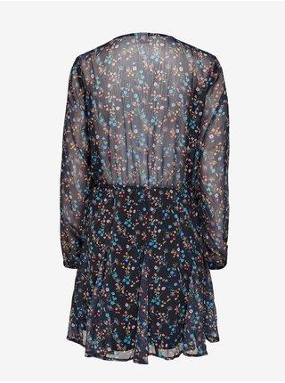 Černé květované šaty Jacqueline de Yong Jennifer