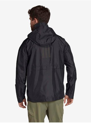 Černá pánská lehká bunda s kapucí adidas Performance Urban Wind.rdy