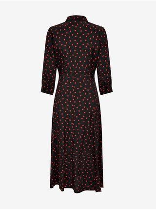 Červeno-černé puntíkované košilové šaty Jacqueline de Yong Munte