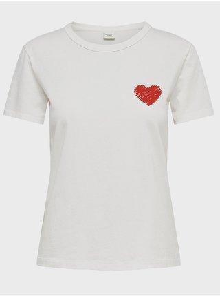Biele tričko Jacqueline de Yong Michigan