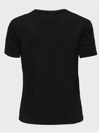 Černé tričko s potiskem Jacqueline de Yong Michigan