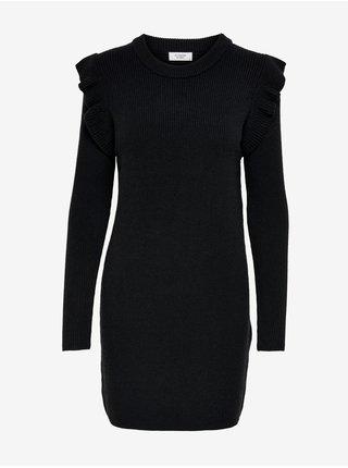 Černé svetrové šaty Jacqueline de Yong Willa