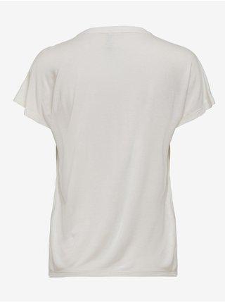 Bílé tričko s potiskem ONLY Flora