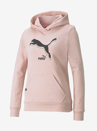 Světle růžová dámská mikina s kapucí Puma