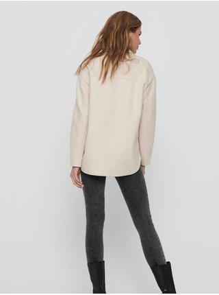 Krémová lehká košilová bunda ONLY Maci