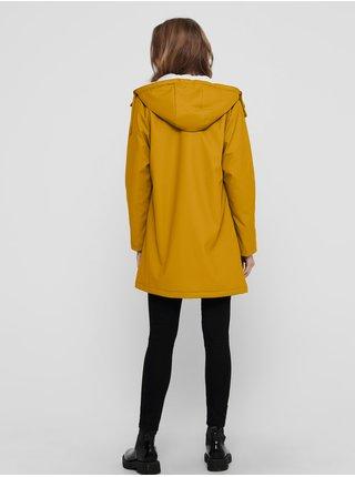 Hořčicová voděodolná bunda ONLY Sally