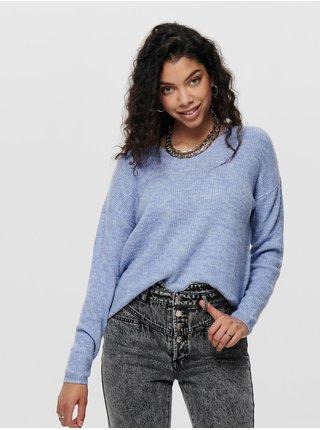 Svetlomodrý sveter ONLY Camilla