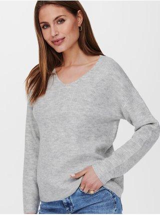 Svetlošedý sveter ONLY Camilla