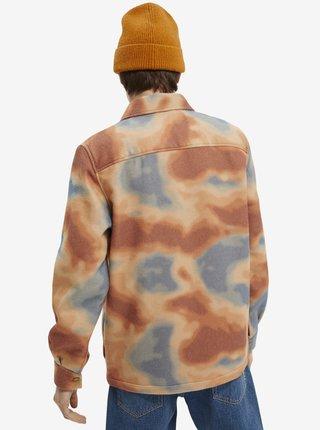 Šedo-oranžová pánska košeľová bunda Scotch & Soda