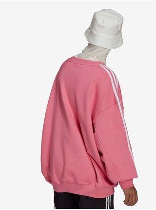 Bílo-růžová volná mikina Adidas Originals