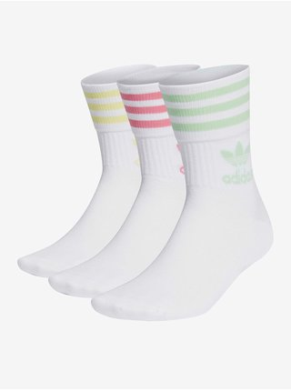Sada troch párov pánskych ponožiek v ružovej, zelenej a žltej farbe Adidas Originals
