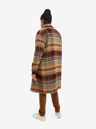 Hnedý pánsky kockovaný  kabát Scotch & Soda