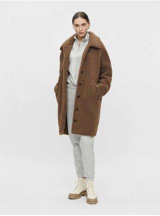 Hnědý kabát u umělého kožíšku .OBJECT Caro