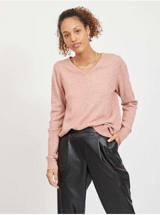 Růžový  basic svetr VILA Viril