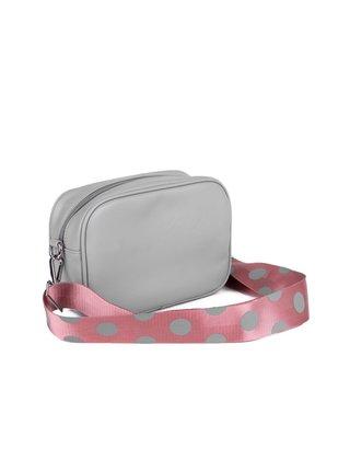Růžovo-šedá dámská malá crossbody kabelka VUCH Davor