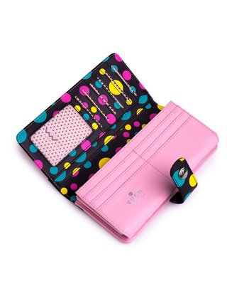 Černo-růžová dámská malá vzorovaná peněženka VUCH Denny Denica