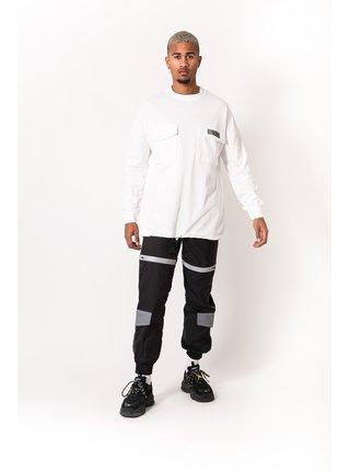 Černé pánské reflexní kalhoty REFLECTIVE WITH JOGGING BLACK JUNE SIXTH