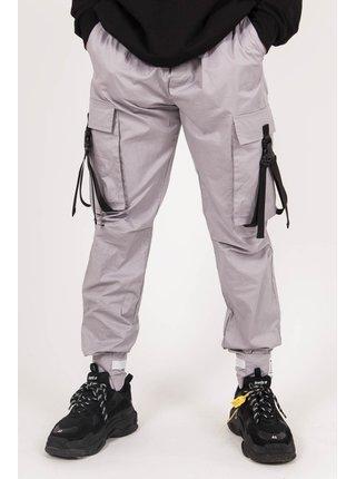 Šedé pánské kalhoty PANTS CARGO STRAP JUNE SIXTH