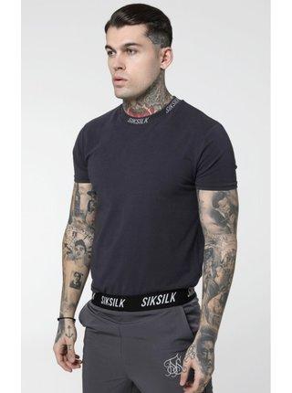 Černé pánské tričko Tee Logo Collar High S/S SikSilk