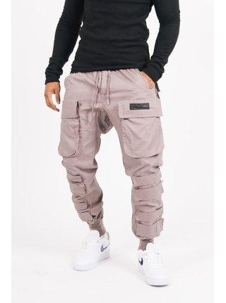 Béžové pánské kalhoty BROWN PANTS CARGO WIDE TACTICAL