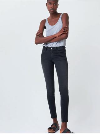 Černé dámské zkrácené skinny fit džíny SALSA Wonder