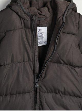 Černý klučičí overal prošívaný snowsuit GAP