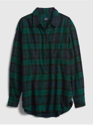 Zelená dámská košile Kostkovaná flanelová GAP