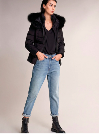 Černá dámská prošívaná dunda s kapucí Salsa Jeans CHamonix
