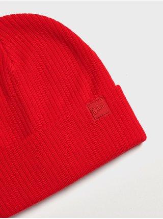 Doplňky - Dětská žebrovaná čepice Beanie Červená