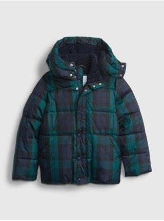 Zelená klučičí bunda kostkovaná GAP
