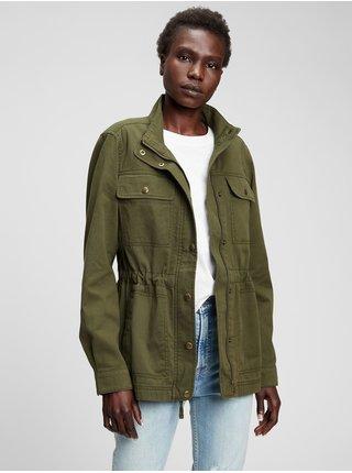Zelená dámská bunda utility jacket GAP