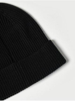 Doplňky - Dětská žebrovaná čepice Beanie Černá