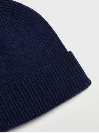Doplňky - Dětská žebrovaná čepice Beanie Modrá
