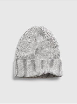 Šedá pánská čepice z organické bavlny GAP