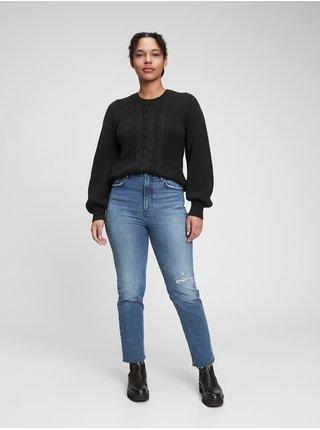Černý dámský svetr cable fashion GAP