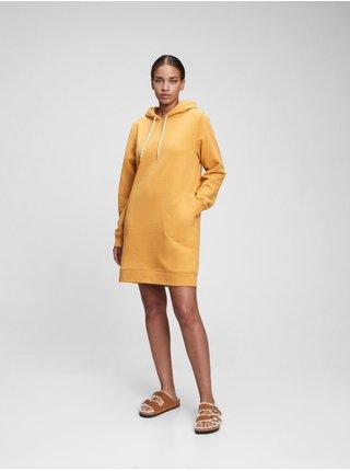 Žluté dámské šaty hoodie swtshirt dress GAP