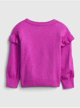 Růžový holčičí svetr s hvězdou GAP