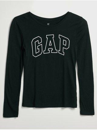Černé holčičí tričko s logem GAP