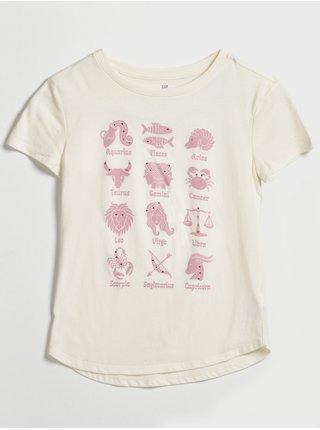 Bílé holčičí tričko interactive GAP