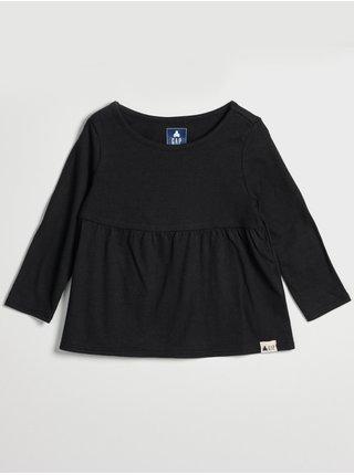 Černá holčičí tunika nabíraná GAP
