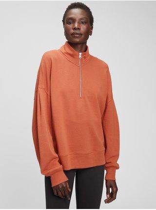 Oranžová dámská mikina half zip GAP