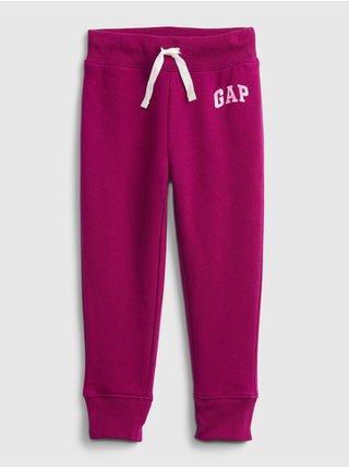 Fialové holčičí tepláky pant logo GAP