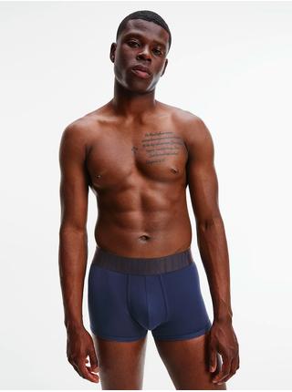 Sda dvou boxerek v tmavě modré a korálové barvě Calvin Klein