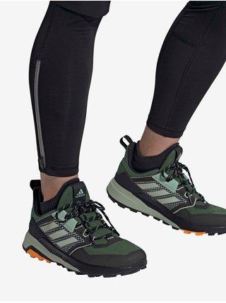 Tmavě zelené páské tenisky adidas Performance Terrex